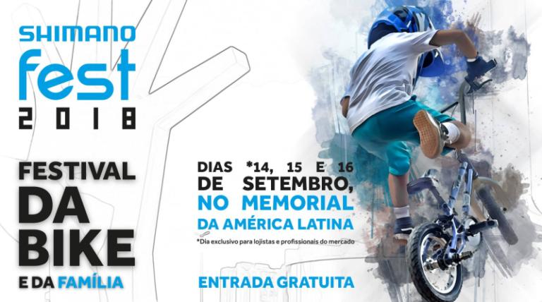 ShimanoFest acontece neste final de semana no Memorial da América Latina com entrada gratuita
