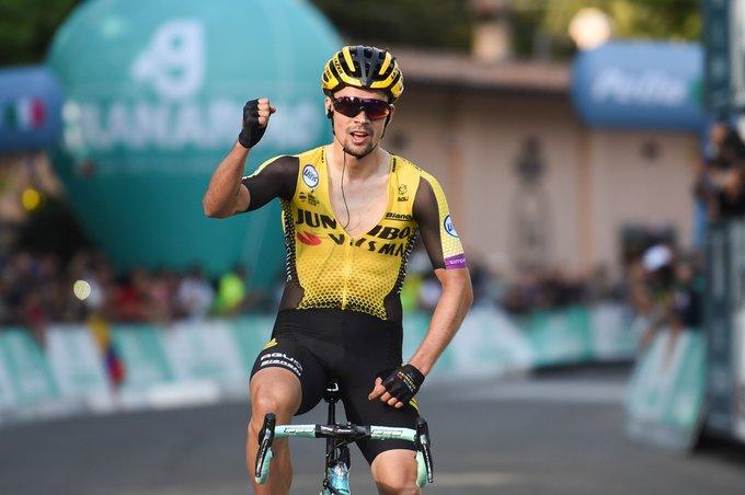 Primoz Roglic venceu o campeonato esloveno de ciclismo na primeira corrida UCI desde o início da pandemia.